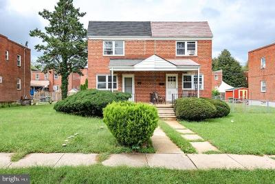 Baltimore City Single Family Home For Sale: 3710 Bartwood Road