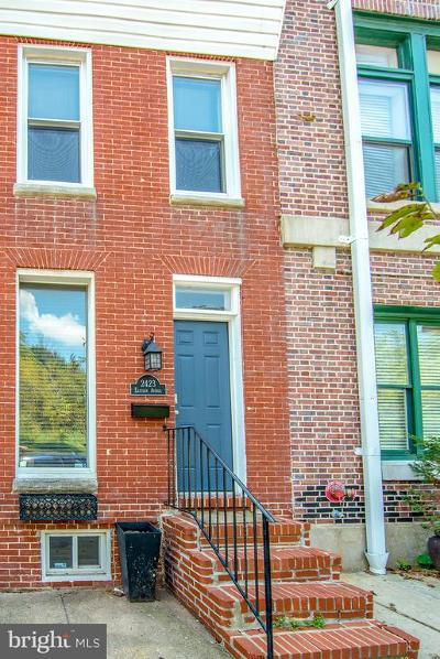 Baltimore City Townhouse For Sale: 2423 Eastern Avenue