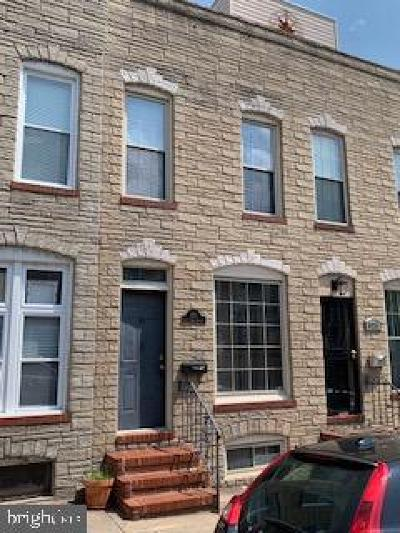 Baltimore Townhouse For Sale: 821 S Rose Street