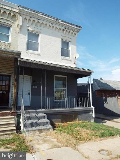 Baltimore City Townhouse For Sale: 1640 Hazel Street