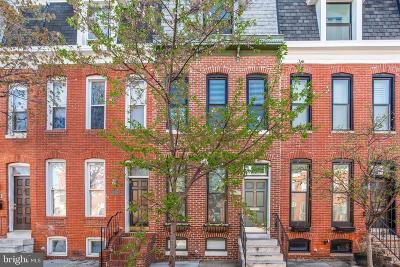 Federal Hill Townhouse For Sale: 1309 S Hanover Street