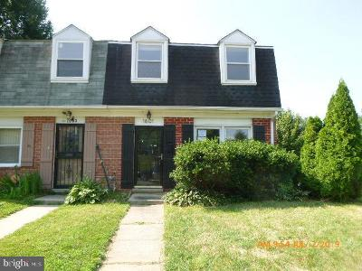 Parkville MD Townhouse For Sale: $115,000
