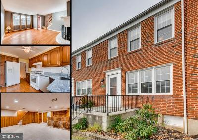Baltimore County Townhouse For Sale: 8118 Pleasant Plains Road