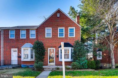 Baltimore County Townhouse Under Contract: 1661 Hardwick Road