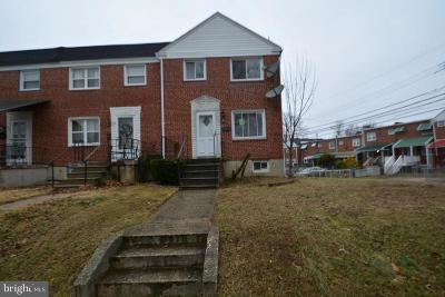 Baltimore County Townhouse For Sale: 1222 Dalton Road