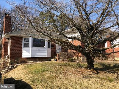 Baltimore County Single Family Home For Sale: 800 Shelley Road