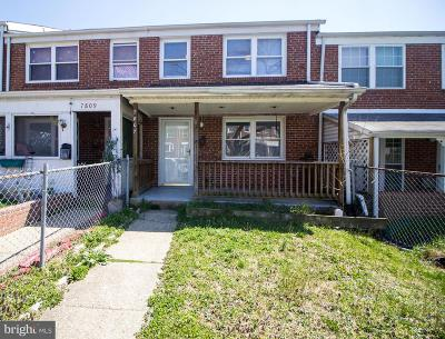 Dundalk Townhouse For Sale: 7807 St Claire
