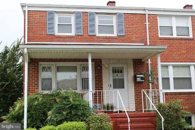 Halethorpe Townhouse For Sale: 1147 Gloria Avenue