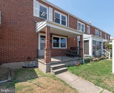 Baltimore County Townhouse For Sale: 1738 Stokesley Road