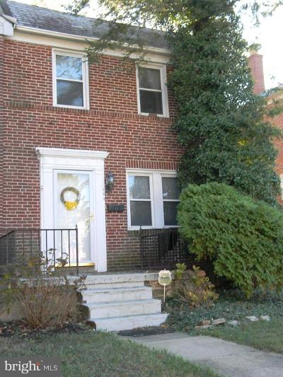 Baltimore Townhouse For Sale: 820 Braeside Road