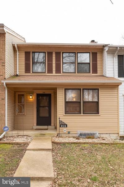 Waldorf Townhouse For Sale: 216 Westdale Drive