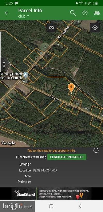 DORCHESTER COUNTY, Dorchester County Residential Lots & Land For Sale: 1918 Liners Road