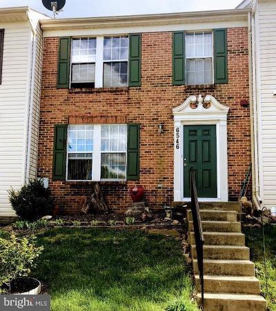 Frederick Townhouse For Sale: 6546 Ellington Way