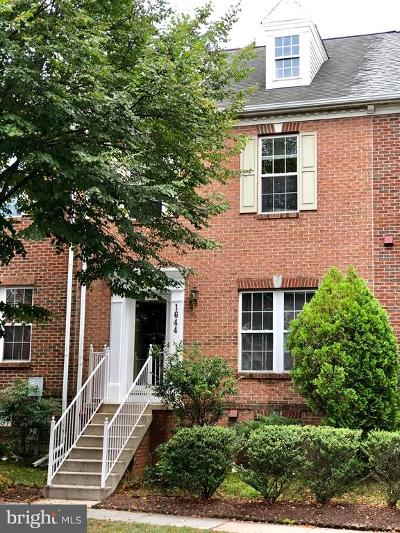 Frederick Townhouse For Sale: 1644 Coopers Way