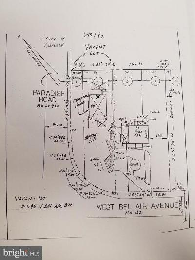 Harford County Residential Lots & Land For Sale: W. Bel Air Avenue E