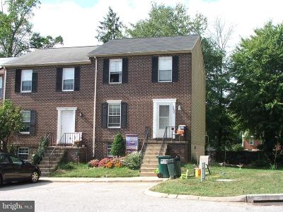 Abingdon MD Townhouse For Sale: $154,900