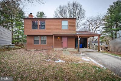 Columbia MD Single Family Home For Sale: $290,000
