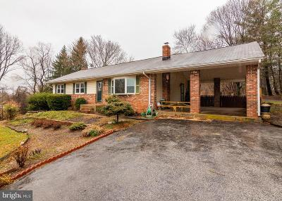Single Family Home For Sale: 15955 Old Frederick Road