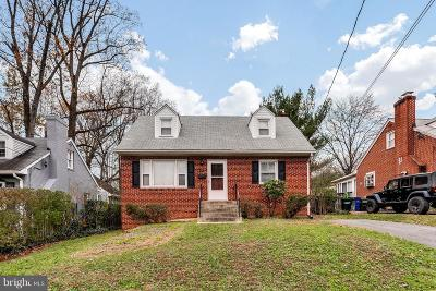 Silver Spring Single Family Home For Sale: 3605 Woodridge Avenue
