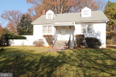 Silver Spring MD Single Family Home For Sale: $250,000