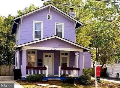 Takoma Park Single Family Home For Sale: 7703 Carroll Avenue