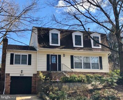 Rockville Single Family Home For Sale: 600 Watts Branch Parkway