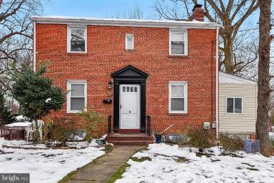 Silver Spring, Wheaton Single Family Home For Sale: 8801 Bradford Road