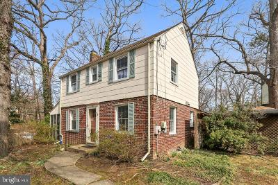 Takoma Park Single Family Home Active Under Contract: 706 Devonshire Road