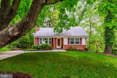 Chevy Chase Single Family Home For Sale: 3601 Faircastle Drive