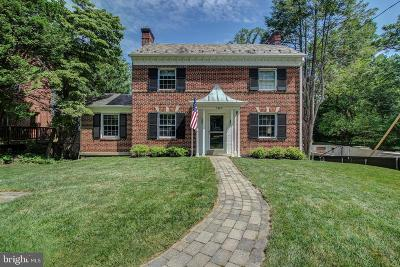 Chevy Chase Single Family Home For Sale: 3409 Thornapple Street
