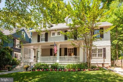 Bethesda, Chevy Chase Single Family Home For Sale: 25 W Irving Street