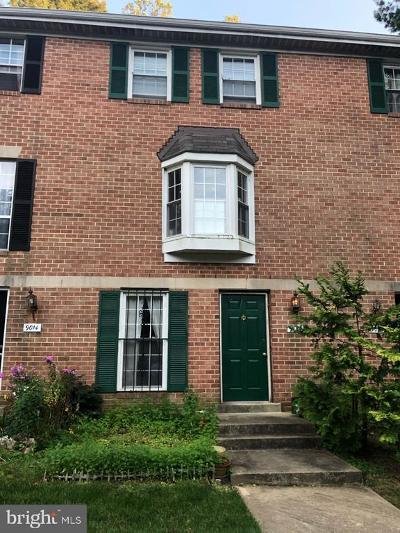 Silver Spring Townhouse For Sale: 9016 Pickwick Village Terrace