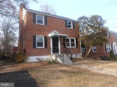Hyattsville Single Family Home For Sale: 4806 71st Avenue