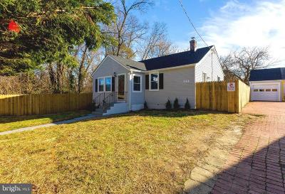 Suitland MD Single Family Home For Sale: $249,900
