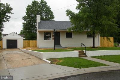 Hyattsville Single Family Home For Sale: 1716 Merrimac Drive