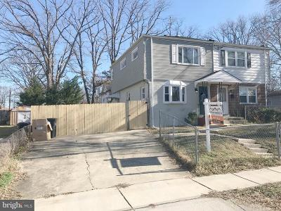 Suitland Single Family Home For Sale: 2308 Lakewood Street