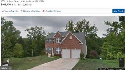Upper Marlboro Single Family Home For Sale: 2702 Lantana Drive