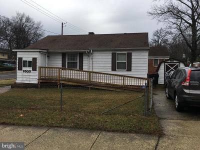 Capitol Heights Single Family Home For Sale: 6500 Joplin Street