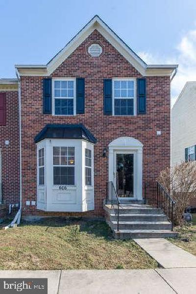 Bowie Townhouse For Sale: 606 Bright Sun Drive