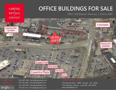 Anne Arundel County, Calvert County, Charles County, Prince Georges County, Saint Marys County Commercial For Sale: 7902 Old Branch Avenue