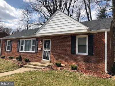 Capitol Heights MD Single Family Home For Sale: $255,000