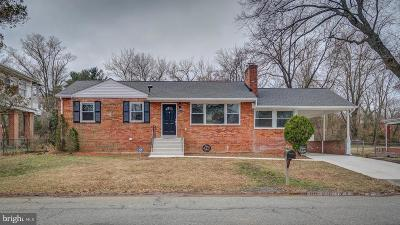 Suitland Single Family Home For Sale: 6007 Cable Avenue