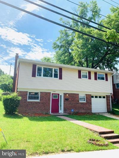 Temple Hills Single Family Home For Sale: 4300 Lyons Street