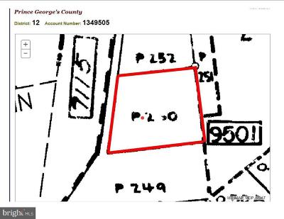 Oxon Hill Residential Lots & Land For Sale: 5410 Thompson Lane