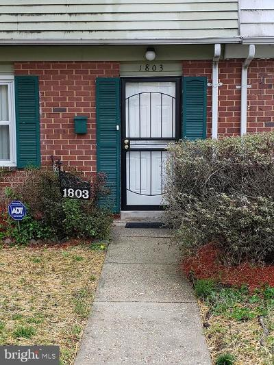 Landover Single Family Home For Sale: 1803 Palmer Park Road