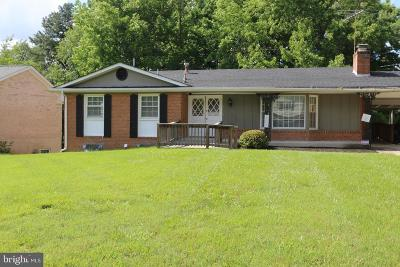 Upper Marlboro Single Family Home For Sale: 9727 Wyman Way