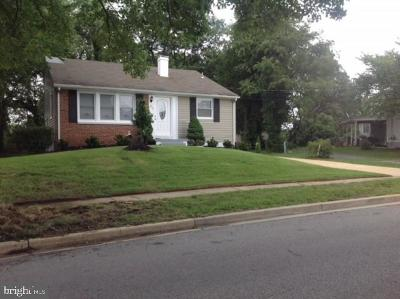 Oxon Hill Single Family Home Active Under Contract: 402 Barrymore Drive