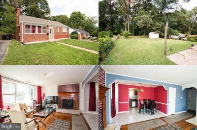 Hyattsville Single Family Home For Sale: 1908 Merrimac Drive