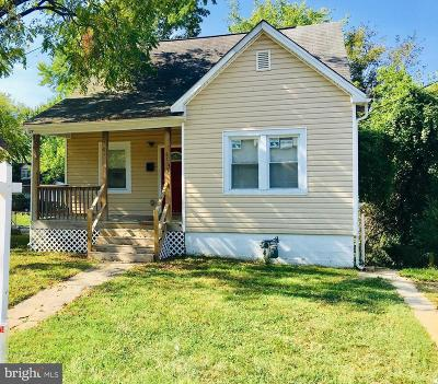 Capitol Heights Single Family Home For Sale: 6109 Addison Road