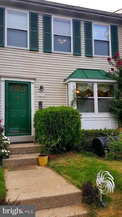 Lanham Townhouse For Sale: 7071 Palamar Turn